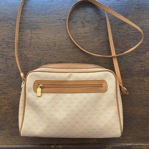 Vintage Gucci Cream Monogram Crossbody Bag